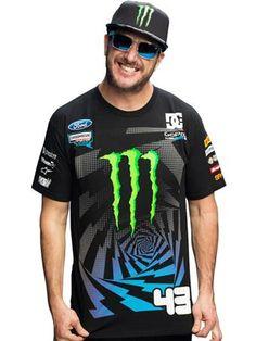Hoonigan Black Monster Ken Block Racing Division Offical T-Shirt Just Dropped !
