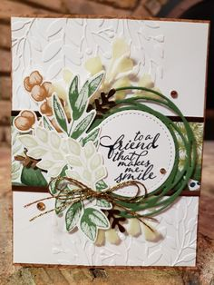 Friend Cards, Cards For Friends, Forever Green, Stamping Up Cards, Thanksgiving Cards, Stamp Sets, Creative Cards, Cute Cards, Homemade Cards