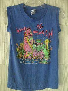 VINTAGE 80s ZOO CREW surf muscle tshirt tank top. $48.00, via Etsy.