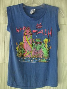 VINTAGE 80s ZOO CREW surf muscle tshirt tank top. $48.00, via Etsy.