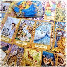 Tarot cards with animals in them in the Chrysalis Tarot  / Photo © www.VioletAura.com