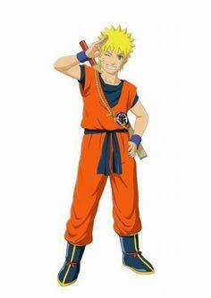 Uzamaki Naruto f dressed as Son Goku. In ninja storm 3.