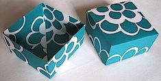 How to make boxes out of scrap paper. Requires scissors. Perfect for small gifts!