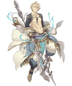 View an image titled 'Aladdin, Paladin Job Art' in our SINoALICE art gallery featuring official character designs, concept art, and promo pictures. Male Character, Game Character Design, Fantasy Character Design, Character Drawing, Character Design Inspiration, Character Concept, Concept Art, M Anime, Anime Guys