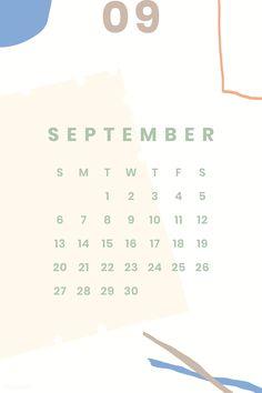 Creative Calendar, Kids Calendar, Calendar 2020, Calendar Design, September Calendar, Calendar Wallpaper, Printable Calendar Template, Minimal, Retro