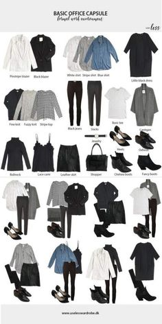 Ideas Style Guides Fashion Capsule Wardrobe For 2019 Capsule Wardrobe Work, Capsule Outfits, Fashion Capsule, Mode Outfits, Fashion Outfits, Fall Outfits, Wardrobe Ideas, Office Wardrobe, Fashion Ideas