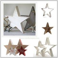 estrellas como base para centro de mesa, estrellas de Navidad decorativa, estrellas planas, estrellas 3D, estrellas con luz LED, estrellas para colgar, estrella de madera, estrella de metal, estrella de mimbre, estrella de corteza natural, floristería