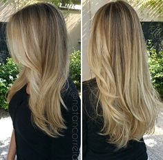 The formula Natan used is: Blondor + 6% Ox for highlights, ILLUMINA COLOR 6/ + 7/81 + 1,9% Ox for roots and 10/ + 10/69 + 1,9 Ox for lengths.