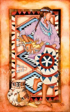 native american paintings and patterns - 2 ~ katilbalina Native American Paintings, Native American Artists, Native American Girls, American Indian Art, Pow Wow, Southwestern Art, Southwest Decor, Native Art, First Nations