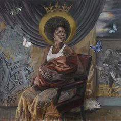 Tim Okamura is a artist who draws portraits of African-American women representing them in a strong pose. Being half Japanese, the Brooklyn-based… African American Art, African Art, American Women, Inspiration Art, Art Inspo, Tim Okamura, Colossal Art, Museum Of Contemporary Art, Black Artists