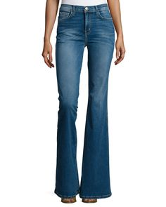 The Girl Crush Flared Jeans, Dustbowl, Size: 32 - Current/Elliott