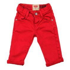Lovin Levi's Baby Boys Spijkerbroek Rood. Perfect voor de winter en december feestdagen! www.kienk.nl