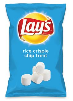 Wouldn't rice crispie chip treat be yummy as a chip? Lay's Do Us A Flavor is back, and the search is on for the yummiest flavor idea. Create a flavor, choose a chip and you could win $1 million! https://www.dousaflavor.com See Rules.
