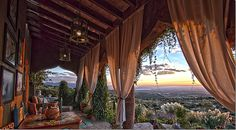 This house is actually in Mexico, but what a great porch. And look at that view! Amazing!