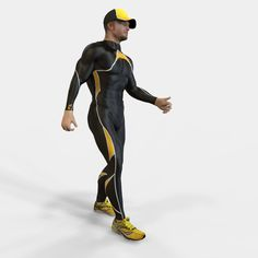 This anatomy is available for purchase at Turbosquid, click the image for the product link. 3d Anatomy, Human Anatomy, 3d Model Character, Rigs, Athlete, Batman, Animation, Superhero, 3d Printing