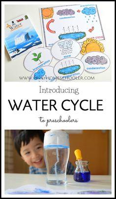 Simple water cycle activities to try with your preschoolers #preschool #activity #homeschool #science
