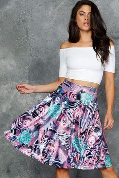 Koi Pink Velvet Midi Skirt - LIMITED ($110AUD) by BlackMilk Clothing