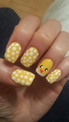 Easter/chick/peep nails