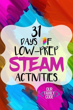 For the month of October, we will be sharing a daily low-prep STEAM (Science, Technology, Engineering, Art, Math) activity. You and your kiddos are going to love all of the low-prep STEAM activities that we have in store at OurFamilyCode! #daysofSTEAM #31