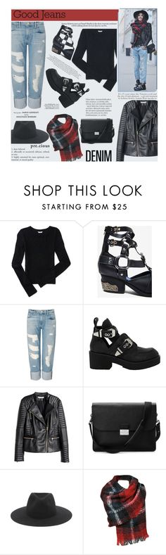 """Distressed Denim"" by zayngirl1dlove ❤ liked on Polyvore featuring moda, Aéropostale, Jeffrey Campbell, Frame Denim, H&M, Aspinal of London, rag & bone, Black Rivet, women's clothing y women"