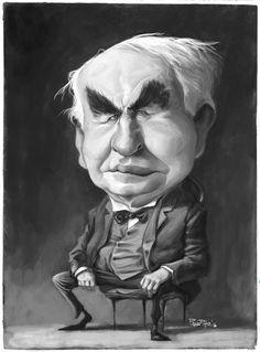 (7) Pablo Pino - Dibujo 2: Thomas Edison #2ThomasEdison