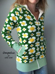 Ompelua ja sillä siisti---want! Hoodie Dress, Diy Clothes, What To Wear, Style Inspiration, Boho, Hoodies, Retro, Sewing, Knitting