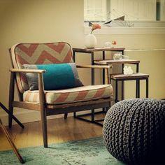 Throwback from 2014 #interiors #interiordesign #kirodesign #retro #design #redesign #nyc #furniture #instagood #chevron #nycinteriors #knit #ottoman #pouf