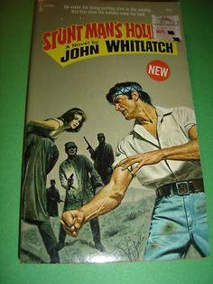 STUNT MAN'S HOLIDAY BY JOHN WHITLATCH 1973 PB BOOK