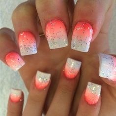 Nice Love the color not the shape of the nails and not sure about the sparkles...