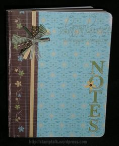 A useful gift is always one of the most appreciated gifts you can give! So giving a cute composition book which can be used as a notepad, a . Composition Notebook Covers, Altered Composition Notebooks, Decorate Notebook, Diy Notebook, Notebook Design, Scrapbook Albums, Scrapbook Paper, Scrapbooking, Book Crafts