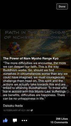 Power of Nam Myoho Renge Kyo