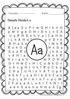 Fise litere   CLASA PREGATITOARE Alphabet Activities, Activities For Kids, Algebra, Teaching Handwriting, Kids Poems, School Lessons, Kindergarten Worksheets, Kids Education, Teacher Resources