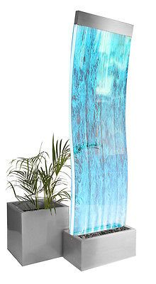 Cosmo Curved Bubble Water Feature Wall 1.8m Colour Changing LEDs Indoor Fountain | eBay