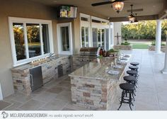 If you are looking for Outdoor Kitchen Bar Ideas, You come to the right place. Here are the Outdoor Kitchen Bar Ideas. This post about Outdoor Kitchen Bar Ideas . Outdoor Kitchen Patio, Outdoor Kitchen Countertops, Outdoor Kitchen Design, Outdoor Rooms, Outdoor Decor, Outdoor Kitchens, Outdoor Living Patios, Outdoor Bars, Outdoor Showers