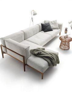 General Style Sofa Sofa Wood Frame Wood Sofa Corner Sofa
