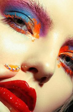 Make-up-Tipps: von Kelly Budd … # von … Make Up Looks, Makeup Inspo, Makeup Inspiration, Make Up Art, How To Make, Eye Makeup, Fairy Makeup, Body Makeup, Mermaid Makeup