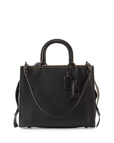 Rogue Leather Tote Bag, Black