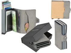 secrid RECYCLED - Leder RFID Twinwallet Minibörse Kartenetui - 2 Farben T-R