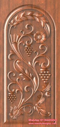 Wonderful Wood Carving Designs In Doors Photos - - Wonderful W. Single Door Design, Wooden Front Door Design, Double Door Design, Wooden Front Doors, The Doors, Wood Design, Wood Doors, Main Door Design Photos, Door Design Images
