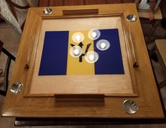 Domino Table, Poker Table, Tea Lights, Candles, Frame, Home Decor, Ideas, Picture Frame, Decoration Home