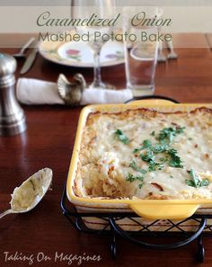 Caramelized Onion Mashed Potato Bake | Taking On Magazines | www.takingonmagazines.com