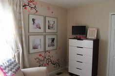 Chambres de bébé, un peu d'inspiration pour les futures mamans - Ambiance gris beige & rose : Album photo - aufeminin.com : Album photo - aufeminin.com - aufeminin