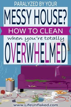 Help for cleaning a very messy house when you're feeling totally overwhelmed and paralyzed by the mess! Household Cleaning Tips, Cleaning Checklist, House Cleaning Tips, Diy Cleaning Products, Cleaning Solutions, Spring Cleaning, Cleaning Hacks, House Cleaning Motivation, Clean House Checklist