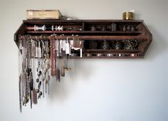 wooden toolbox turned jewellery storage craftiness