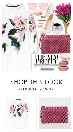 """""""Pretty in Floral"""" by pastelneon ❤ liked on Polyvore featuring Christian Louboutin"""