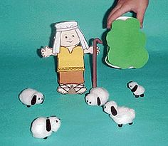 Shepherd and Lost Sheep Bible Story Crafts, Bible Crafts For Kids, Bible Stories, Preschool Crafts, Sunday School Kids, Sunday School Lessons, Sunday School Crafts, Primary Activities, Bible Activities