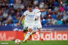 Eden Hazard of Real Madrid CF in action during the La Liga Santander...