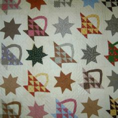 Antique quilt with up to date look, I think.