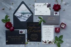 Photography: Jenna Joseph | Invitation Design: Twinkle & Toast | Floral Design: Catalina Neal | Ring Box: The Mrs. Box | Styling Surface: Simply Rooted Surfaces | Postage: Zazzle (custom designed) | Rings: Marrow Fine