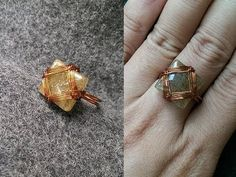 Tutorial wire ring with square stone no holes - YouTube